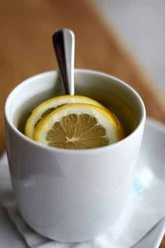Hot honey, lemon and ginger for a cold