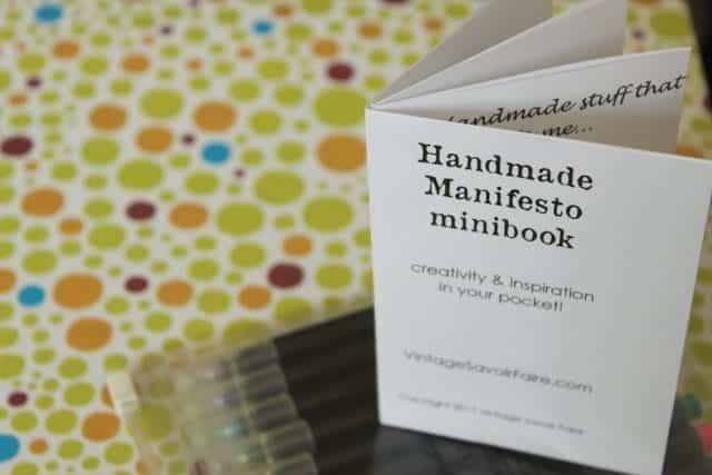 handmade manifesto minibook