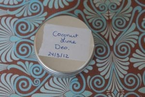 label your homemade deodorant