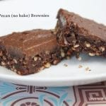 maple pecan no bake brownies
