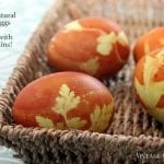Naturally colored easter eggs