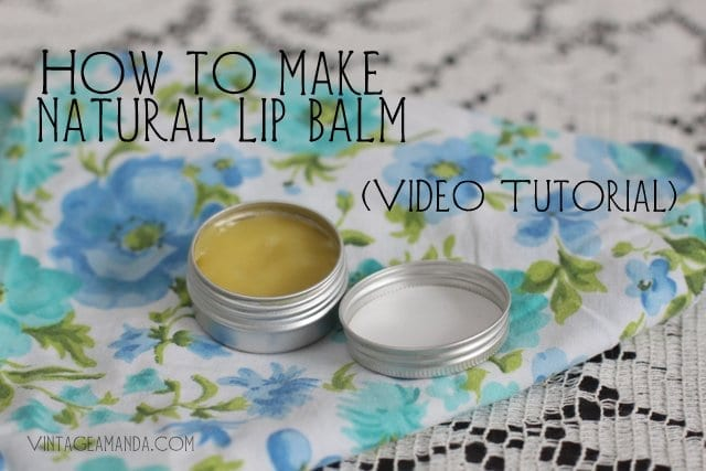 How to make lip balm (video tutorial)