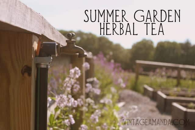 Summer garden herbal tea