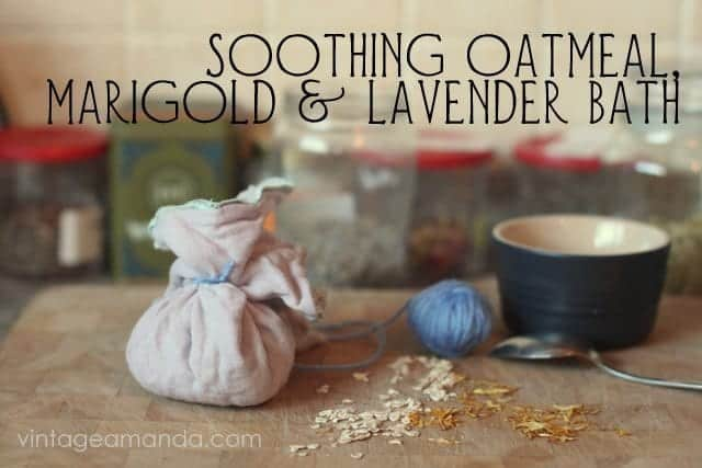 Soothing oatmeal bath for irritated skin