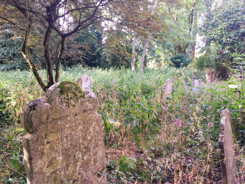 Overgrown Gravestones at St. Marys Church